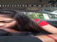 Amateur tamil girl giving blowjob in the car