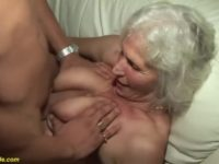 75 years old granny in her first sex video