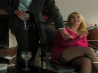 Busty russian babe is ass licked and fucked in all holes