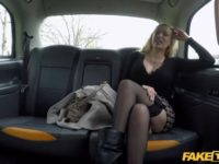 Horny blonde milf is fucked by the son of her favorite taxi driver