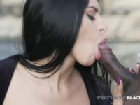 Hot girl with brown hair drilled by two BBC